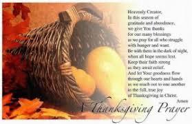 thanksgiving prayer special day celebrations