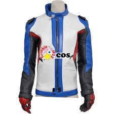 game soldier 76 leather jacket superhero soldier 76 cosplay