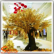 Wedding Wishes Tree Artificial Wedding Wishing Tree Autumn Yellow Gold Wish Trees Fake