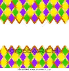 mardi gras picture frame clip of green purple yellow grid mardi gras frame k24551766