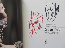 dita von teese autographed your beauty mark hardcover coffee table