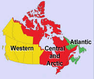 regions of canada map central and arctic canadian coast guard