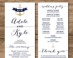 wedding program order rustic wedding program ceremony program printable files