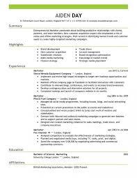 marketing resume templates new marketing resume templates 21 on sle of resume with within