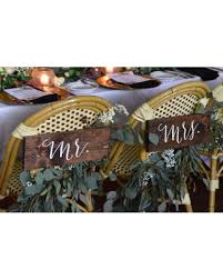 Mr And Mrs Sign For Wedding Deal Alert Mr And Mrs Signs Mr And Mrs Chair Signs Wooden