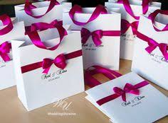personalized wedding welcome bags 35 destination wedding welcome bags with burgundy satin ribbon