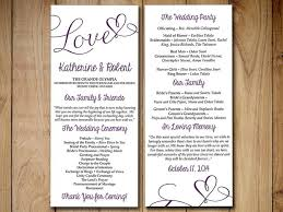 tea length wedding programs diy wedding program template eggplant purple heart