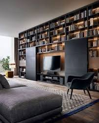 wall ideas for living room back of built ins painted navy blue contemporary living room