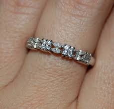 classic double row east marquise and round cz semi