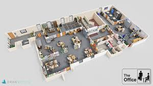 Famous House Floor Plans Famous Tv Shows Brought To Life With Plans Drawbotics The Office