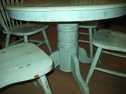 round shabby chic dining table image of painted color distressed