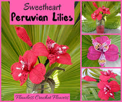 peruvian lilies ravelry peruvian alstroemeria pattern by leticia lebron