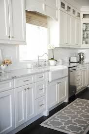 white kitchen cabinet knobs home depot get the look fresh white home with pops of pink kitchen