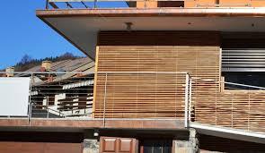 rivestimento listelli legno foto vista rivestimento in listelli di legno di arin studio