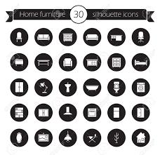 household furniture furniture icons set home interior decoration design symbols