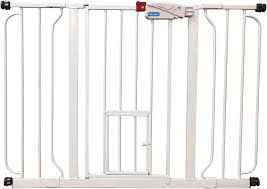 Extra Wide Pressure Mounted Baby Gate Carlson Pet Products Extra Wide Walk Thru Gate With Pet Door