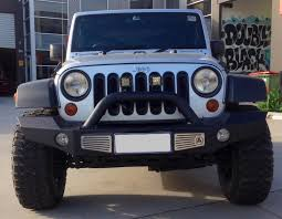 jeep light bar grill smittybilt xrc atlas front bumper with grill guard and fog light holes