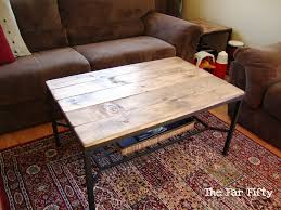 ikea hacks coffee table brown rectangle rustic wood ikea hack coffee table to complete
