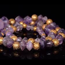 amethyst necklace beads images A roman amethyst bead necklace ca 1st century bc ad sands of jpg