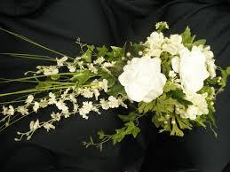 cascade bride bouquet orchid gardenia lily bridal wedding