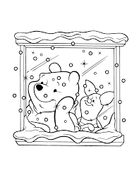 winnie xmas coloring pages coloring home