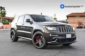 stanced jeep srt8 2014 jeep grand cherokee srt8 22 verde wheels v39 parallax gloss