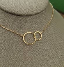 gold ring necklace images Linked together circles and gold filled necklace gold jpg