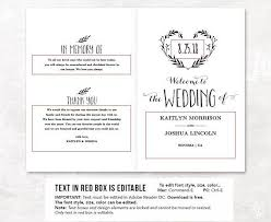 wedding program size free downloadable wedding program template that can be printed