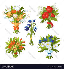 bouquets of flowers bouquets of flowers royalty free vector image vectorstock