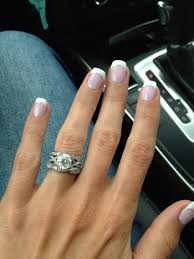 vegas nails no chip manicure using gelish romantique with silver