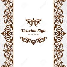 vector ornate seamless border in victorian style gorgeous element