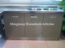 Stainless Steel Kitchen Sink Cabinet by 304 201 Assemble Stainless Steel Kitchen Sink Cabinet Stainless