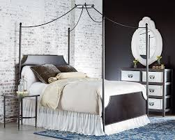 Iron Canopy Bed Frame Manor Iron Canopy Queen Bed Magnolia Home