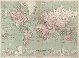 Accurate Map Of The World Historical Map Reproductions World Maps
