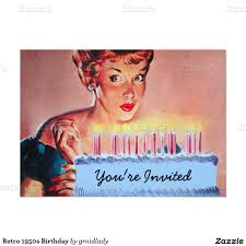 Invitation Card Birthday Retro 1950s Birthday Card 1950s Retro And Birthdays