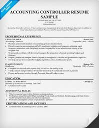 Sample Resume General by Controller Resume Example