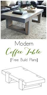 Woodworking Build Coffee Table by Modern Coffee Table Build Plans