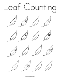 leaf counting coloring page twisty noodle