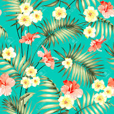Tropical Design Tropical Design For Fabric Swatch Topical Palm Leaves And