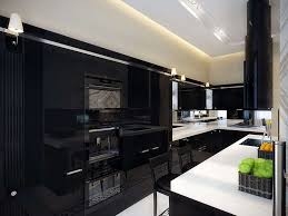 High Gloss Black Kitchen Cabinets Uncategorized Black Shiny Kitchen Cabinets For Exquisite High