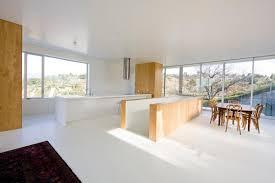backsplash concrete island kitchen bright white concrete island
