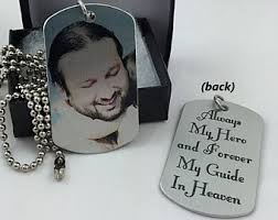Personalized Memorial Necklace Dad Memorial Jewelry Etsy