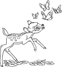 bambi butterflies catch coloring pages wecoloringpage