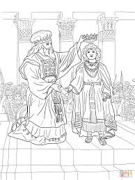 king joash crowned coloring page supercoloring com divided
