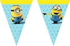 Despicable Me Decorations Universal 55580 Lovely Minions Party Decoration Banner Triangle