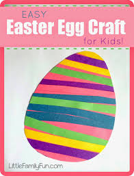 little family fun easy easter egg craft for kids