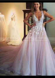 tulle wedding dress wedding dress a line princess v neck cathedral with appliqued