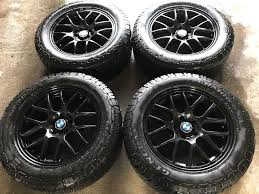 bmw black replica bmw black alloys with winter tyres for x5 or similar in