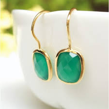 hook earrings green onyx gold hook earrings jl heart online