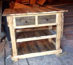 Pallet Kitchen Island Rustic Pallet Kitchen Table With Drawers Pallet Furniture Diy